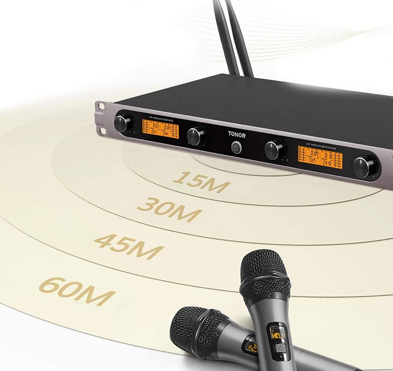 Test TONOR Microphone sans Fil UHF Ensemble de Karaoké 3 Canaux 4 Micros Professionnel