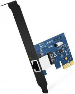 Test - UGREEN Carte Réseau PCI Express Gigabit Ethernet à 1000 Mbps RJ45 LAN Adaptateur pour PC Supporte Windows 10 8.1 8 98SE ME 2000 XP Vista