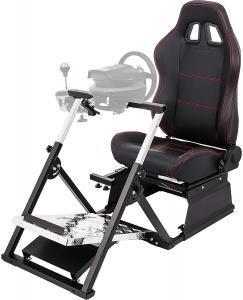 Test - VEVOR Cockpit de Simulateur de Course G27 G29 G920 T500RS Chaise de Jeu de Cockpit Simulateur de Course V2 GT Chaise de Jeu de Siège de