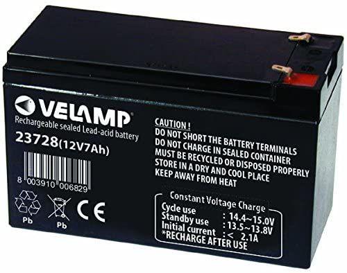 Test - Velamp Batterie au Plomb 12 V 7 AH 2,02 kg
