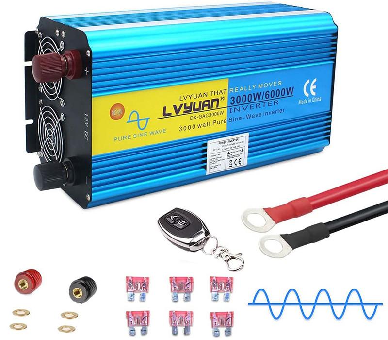 Test - Yinleader Convertisseur 12v 220v Pur Sinus 3000W6000W convertisseur Pur Sinus (avec télécommande)