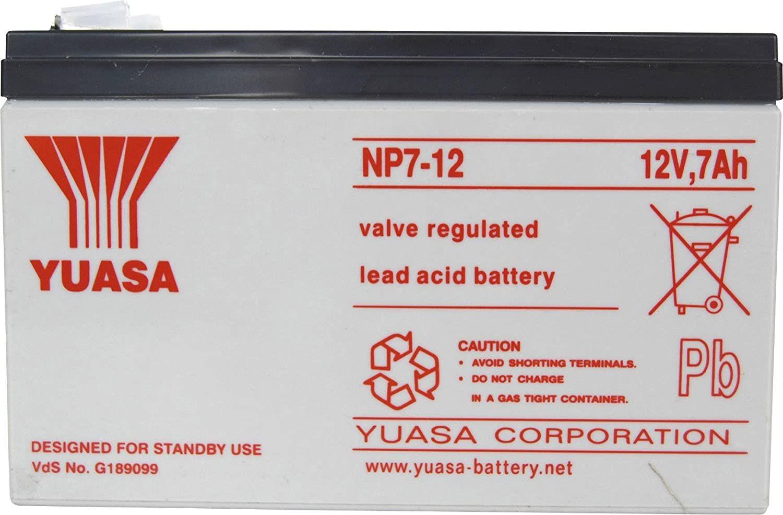 Test - Yuasa NP7-12 AGM S65 - 12V 7.0Ah - Acide de plomb scellée batterie rechargeable