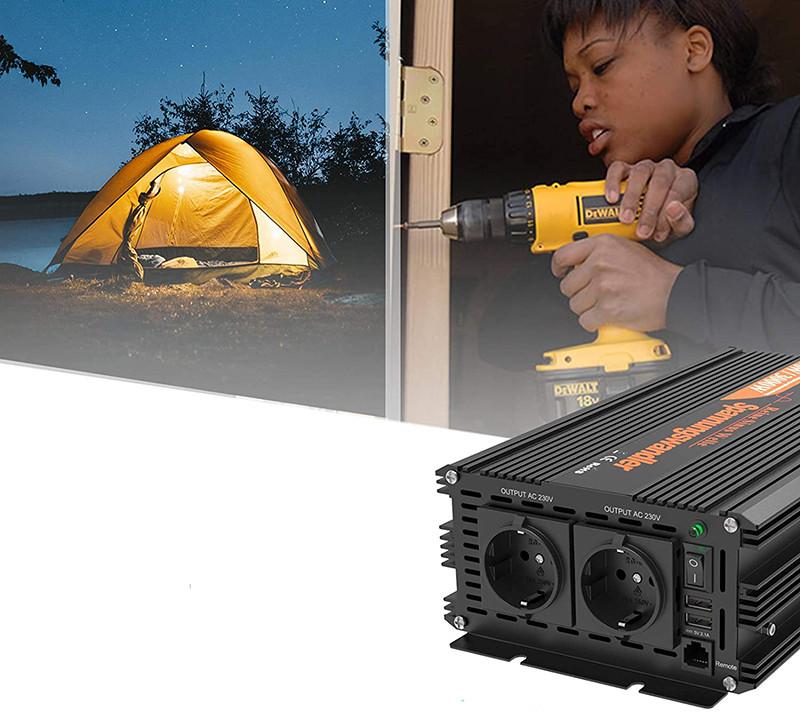 Test et Avis - EDECOA Convertisseur PUR SINUS 12v 220v onduleur 1500w onde sinusoïdale pure convertisseur 12v 220v avec télécommande