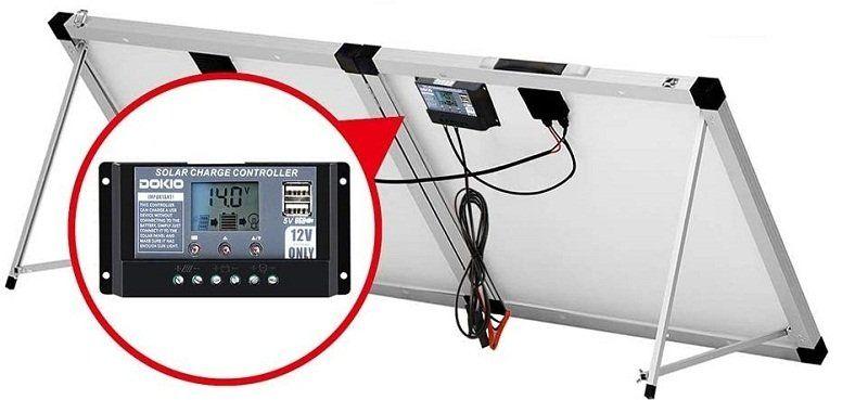 Test et avis - DOKIO Kit Panneau solaire pliable 100WC - 12V Idéal pour les utilisations embarquées comme le bateau, camping-car, véhicule divers
