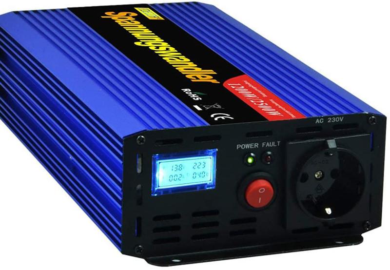 Test et avis- EDECOA Convertisseur 12v 220v convertisseur de Tension 1200w transformateur 220v 12v Onde sinusoïdale modifiée 1200w