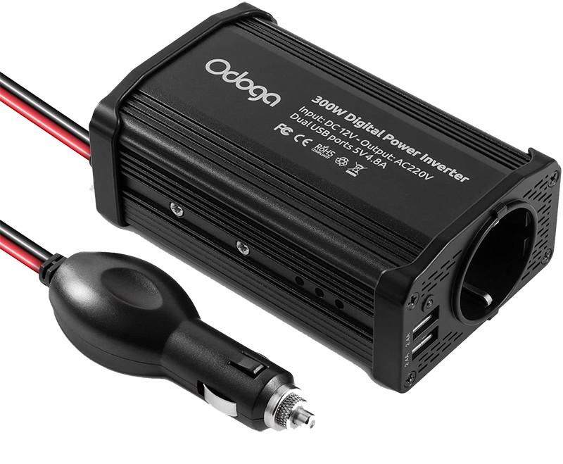 Test et avis - Odoga Convertisseur Transformateur Chargeur pour Voiture 300W 12V 220V-240V Onduleur DCAC avec Ports De Charge USB Double 4.8A - Rechargez Votre Ordinateur Portable, Ipad, Iphone, Tablett