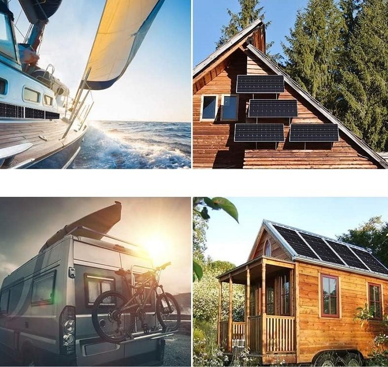 Test et avis - Renogy Panneau Solaire 100W 12V Module Photovoltaïque Monocristallin idéal pour charger batterie 12V, Camping-car, Caravane, Bateau, Cabane et Chalet