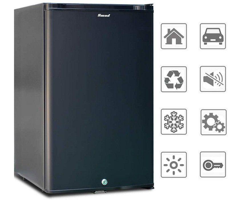 Test et avis - Smad Réfrigérateur Compact 12V 220V Mini Frigo à Absorption avec Serrure à Verrou 0dB sans Bruit Petit Frigo pour Voiture RV Camping 50L