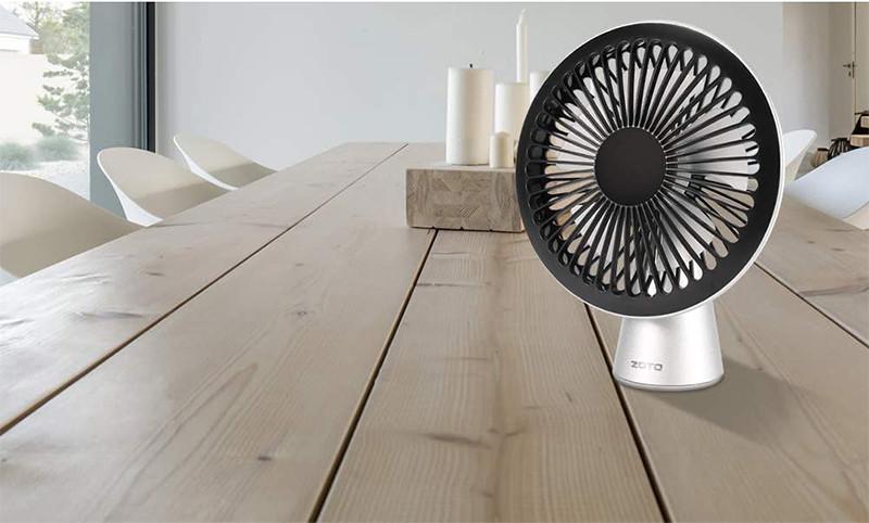 Test et avis - ZOTO Ventilateur USB de Bureau, 3 Vitesses Mini Ventilateur Ultra Silencieux, Portable Rechargeable Ventilateur pour MaisonBureauen Plein air