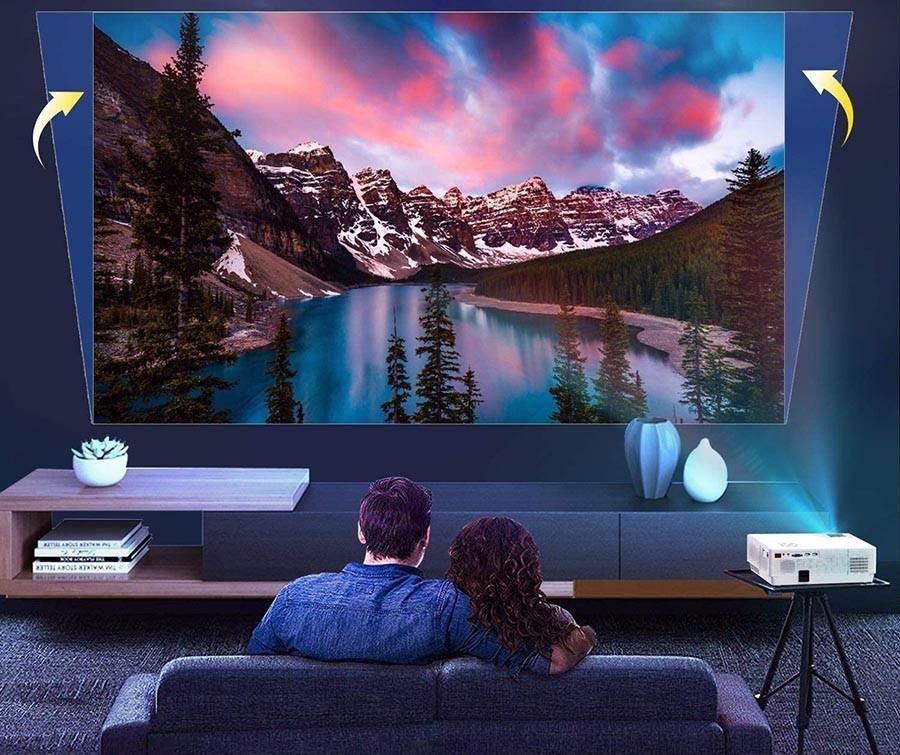 Vidéoprojecteur WiMiUS 7000 Lumens Full HD 1080P Rétroprojecteur 4K Soutien