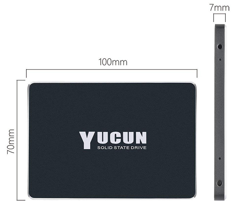 YUCUN 2,5 Pouces SATA III Disque Flash SSD 480 Go Interne Solid State Drive