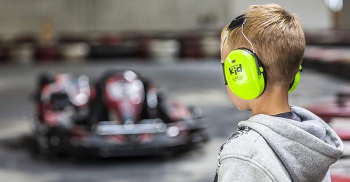 test 3M Peltor Kid Cache-oreilles vert fluo