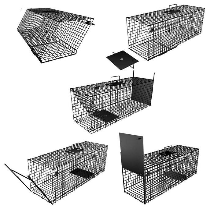 test Amagabeli Piège vivant 78x26x29cm Piège animalier comme grand piège à martre Piège à chat Piège à renard Piège à rat