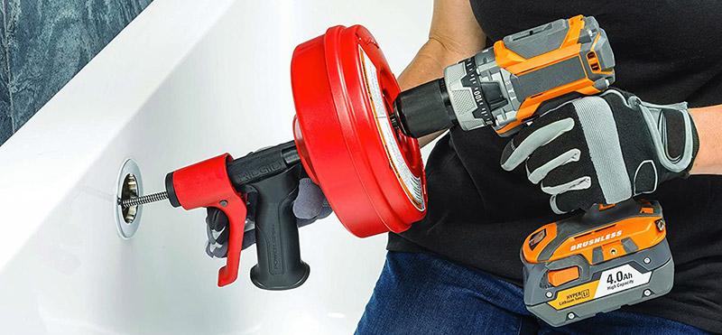 test RIDGID57043 Déboucheur Power spin avec AUTOFEED