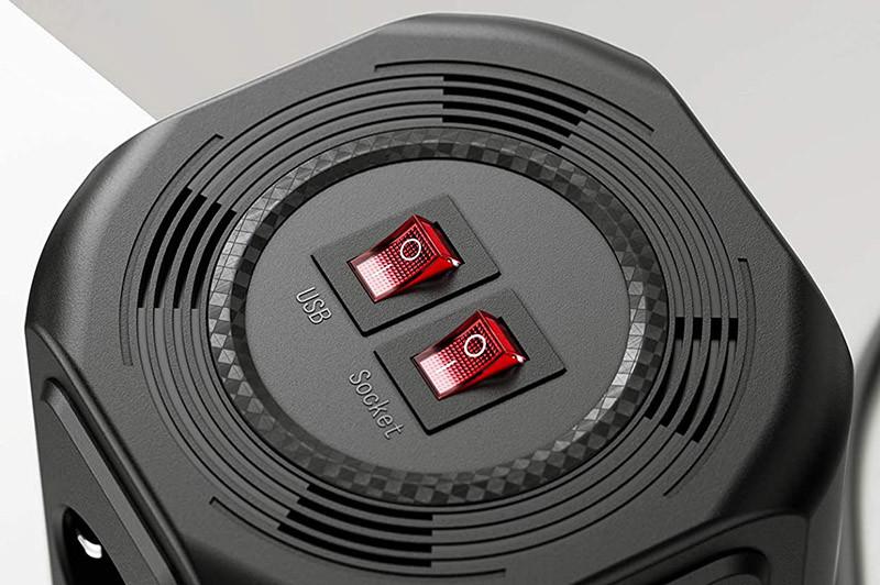 test Sameriver Tour Multiprise Multi Prises Électriques à 12 Prises et 5 Ports USB