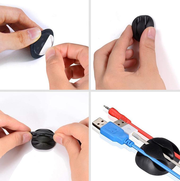 test U-horizon 12 Pack Clips de Câble durable, Rangements de câbles et serre-câbles