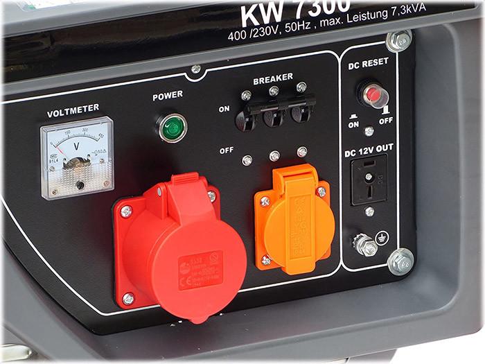test et avis KnappWulf KW8300 Groupe électrogène à essence de secours Courant triphasé 230 V + 400 V