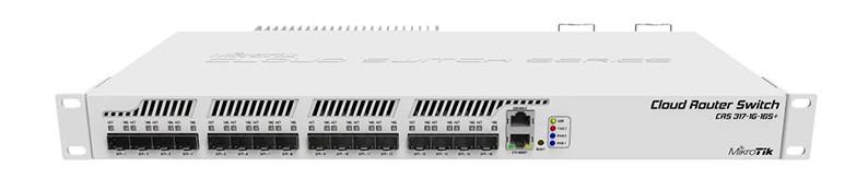 test et avis MikroTik CRS317-1G-16S+RM Interrupteur Réseau L3 None 1U