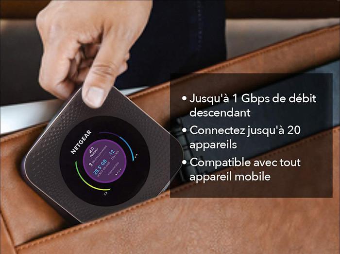 test et avis NETGEAR Routeur 4G sim box 4G LTE Nighthawk M1- MR1100